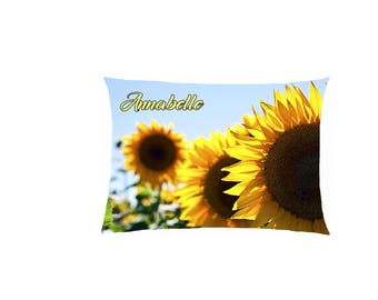 satin pattern sunflower pillow personalized ref 617