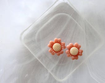 Flower orange and yellow cabochon scrapbooking