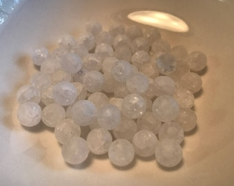 Frosted Quartz Round 8mm
