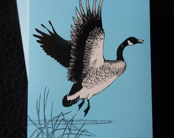 Vintage 1950's Pack Deck of US Playing Cards - Flying Goose Bird