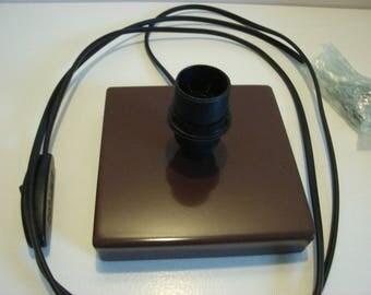 """square chocolate"" lamp black"