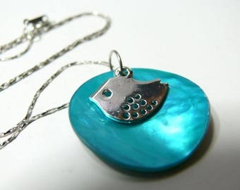 Necklace Pearl Blue Lagoon A Zozyo
