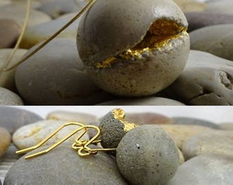 """Contemporary jewelry, necklace and dangle earrings """"my..."""" set"""