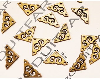 20 Angle protective corners nail Bronze beautiful woodworking embellishment box chest trunk drawer 20 * 20 mm thick