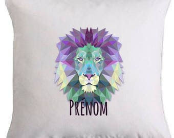"PERSONALIZED pillow ""geometric lion"""
