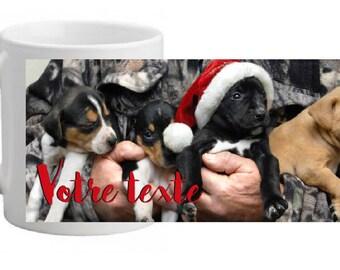"""PERSONALIZED ceramic MUG """"pups"""" Christmas SPECIAL"""