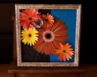 Decorative painting Gerbera / deco frame / drawing