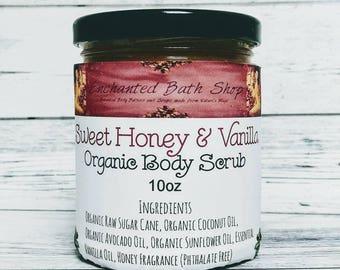 Organic Sugar Scrub - Vanilla Honey Scrub - Body Scrub - Whipped Sugar Scrub - Natural Body Scrub - Organic Body Scrub - Whipped Body Scrub
