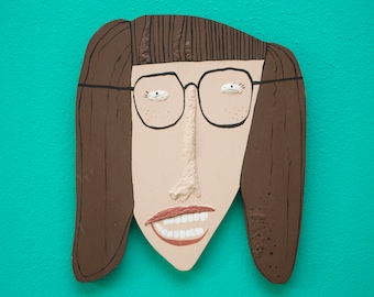 Girl with glasses \ wall decoration