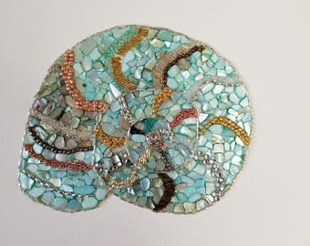 Mosaic shell on canvas
