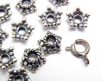 925 Bali Design Sterling SILVER  spacer beads (BD65004)