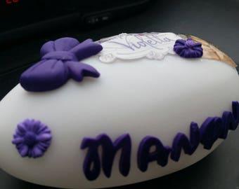 Nightlight violletta decoration polymer clay and fimo liquid