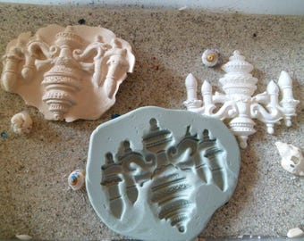 chandelier vintage style for fimo wepam silicone mold