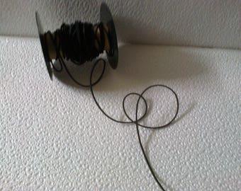 Ribbon 2 large black hat elastic,.4 mm