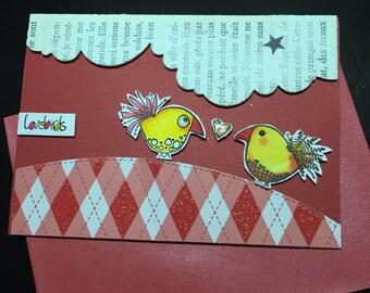 single model card love birds ;-)