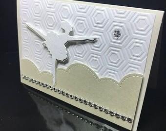handmade original card: ballerina and Star