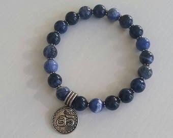 Sodalite Bracelet - 8 mm beads