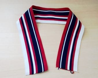 tricolor simple rib knit collar polo type