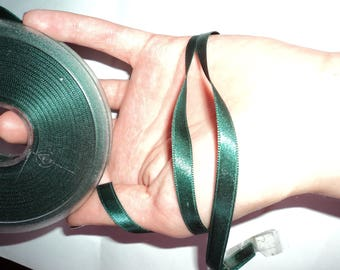 Satin ribbon Green by the yard