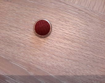 vintage metal fabric covered button