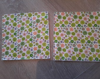 Set of 2 paper napkins