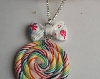 delicious fimo necklace lollipop necklace