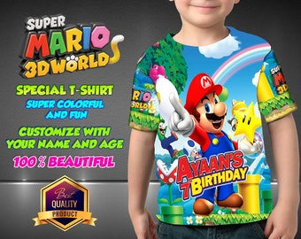 Mario Bros Birthday Shirt, Super Mario Custom Shirt, Personalized Mario Shirt, Mario Bros family shirts, Birthday t-shirts Disney Family