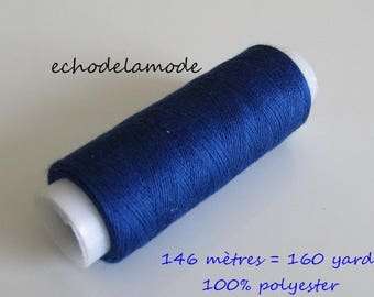 Spool of thread dark blue stitching 146 m 100% polyester