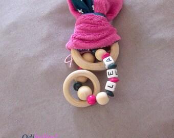 bunny rattle ear baby