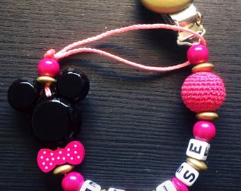 Personalized pacifier clip - model ELOISE