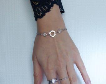 minimalist bracelet, Crystal, stainless steel 16/18/19 cm