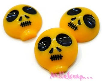 Set of 3 yellow resin aliens embellishment scrapbooking card making (ref.310) *.