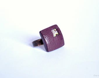 Square ring polymer clay