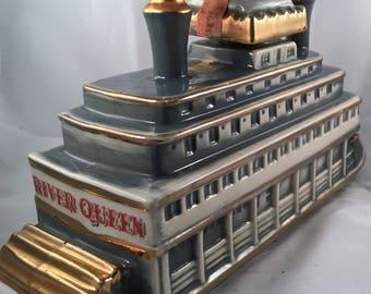 Vintage 1968 River Queen Sternwheeler St Louis River Boat OBR Decanter/Bottle 185