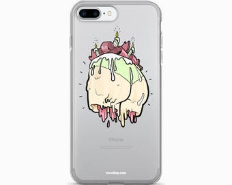 i-phone case, illustration, cake, butt