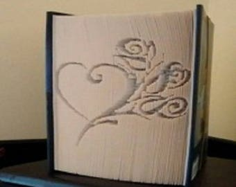 "Carving book ""Pink heart"""