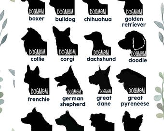 Dogmom Decals / Multiple Breeds