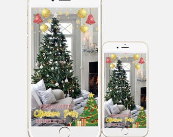Christmas snapchat geofilter, christmas Filter, christmas snapchat filter, christmas theme filter, winter filter, ornament christmas filter