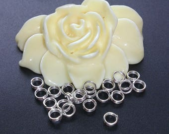 200 rings double jump silver 4mm diameter. (A 52)