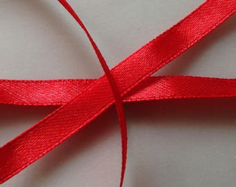 SET of 22 yards 6 red 16 mm SATIN Ribbon