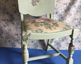 Beautiful Decoupage Occassional Chair