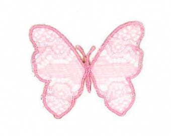 Butterfly, fusible badge