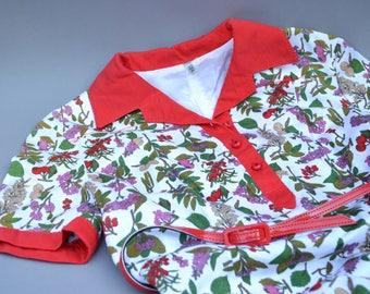 1970s years new Germany Windisch Lady dress flower decor flower pattern flower design