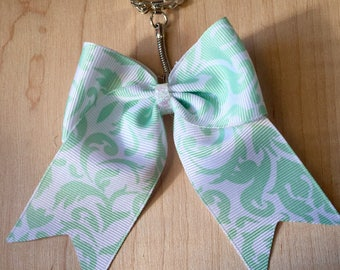 Mint to be Bow Keychain