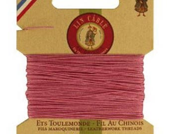 Cardboard 10 meters of AU Chinois linen thread no. 432, pink candy 200