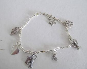 Pretty silver charm bracelet