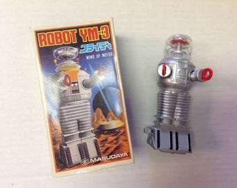 Robot YM-3 Lost in Space Wind Up Motor Toy Masudaya | Vintage Robot | Vintage Toy | Robby the Robot |