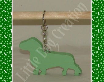 Dachshund wood key holder