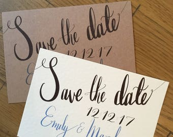Simple A6 Save the Date SAMPLE