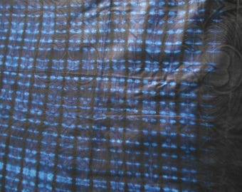 Dyed African fabric, 60 cm x 160 cm (Ankara) hand dyed cotton batik